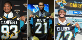 Jaguars contrata Calais Campbell, AJ Bouye e Barry Church