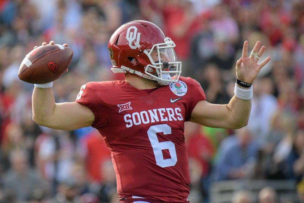 Baker Mayfield, quarterback da universidade de Oklahoma