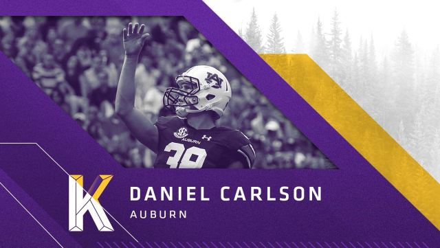 Kicker Daniel Carlson, Auburn, escolha do Vikings