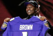 Marquise Brown novo WR do Baltimore Ravens