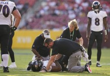 Bobbins se lesiona e desfalca ataque do Baltimore Ravens