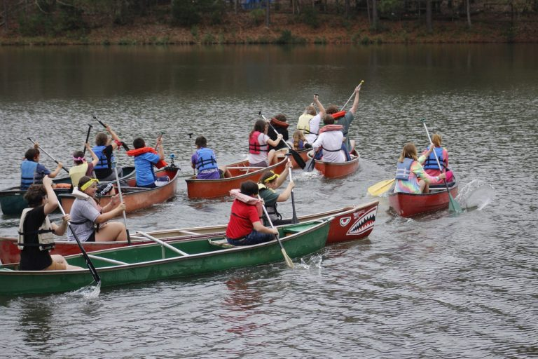 Canoe Race at Winter Retreat