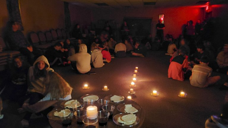 Communion Service at Winter Retreat