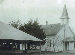 """FUMC Allen built a sanctuary around 1885 with a """"Brush Arbor Shelter"""" built nearby for summer services and revivals."""