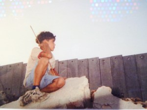Photograph of Palestinian boy from the collection of Dr. George Rivera.