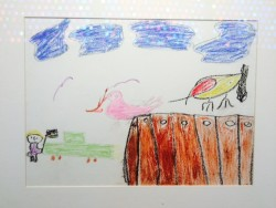 Palestinian child's drawing (from the collection of Dr. George Rivera).