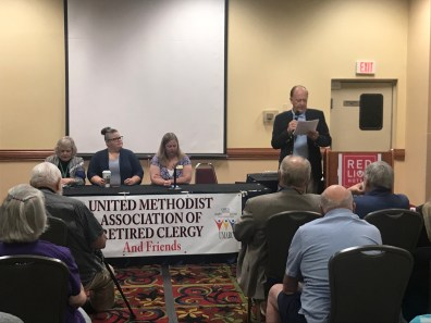 United Methodist Association of Retired Clergy: Dr. Don Messer leading a panel discussion with UMC Next attendees. The conversation focused on next possible steps to move forward as Methodists and was a highlight for many during annual conference.