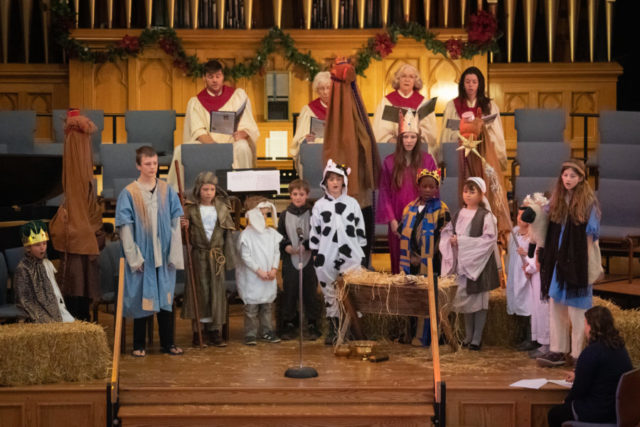 A scene from the 2018 Christmas pageant. Photo by Richard Saxon.
