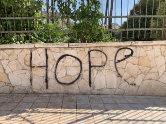 Wall graffiti in Hebron.