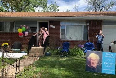 Margaret at the door 100th
