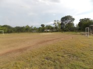 Finished Soccer field with cleared land, and goals built