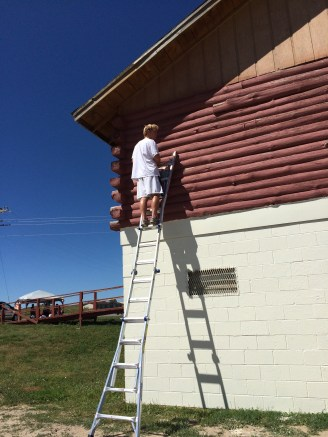 Painting up high