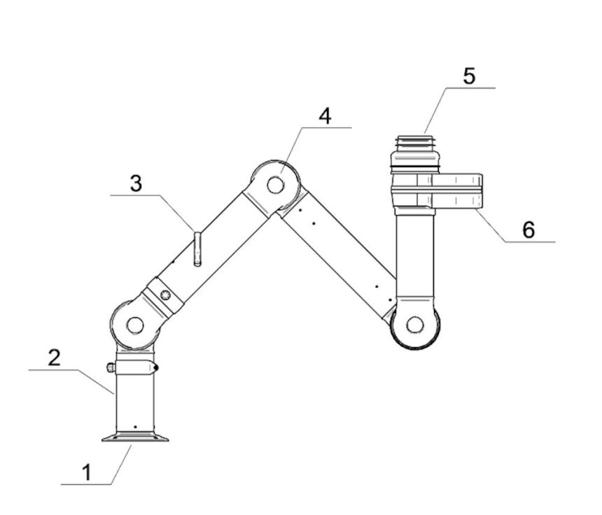 Material Arm Diagram