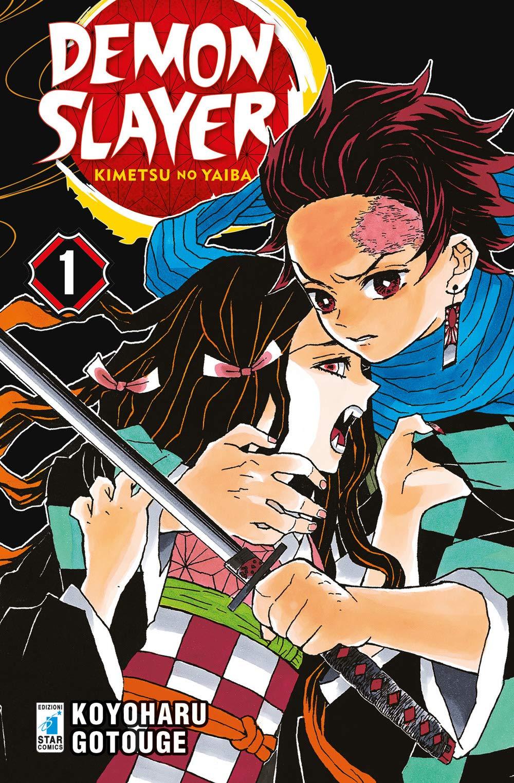 Demon Slayer - Kimetsu no Yaiba 1, copertina di Koyoharu Gotoge