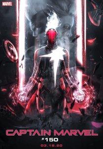 Captain Marvel #16, variant cover di BossLogic