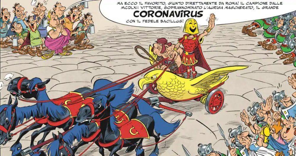Asterix e la Corsa d'Italia - Coronavirus