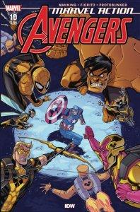 Marvel Action: Avengers #10, copertina di Jon Sommariva