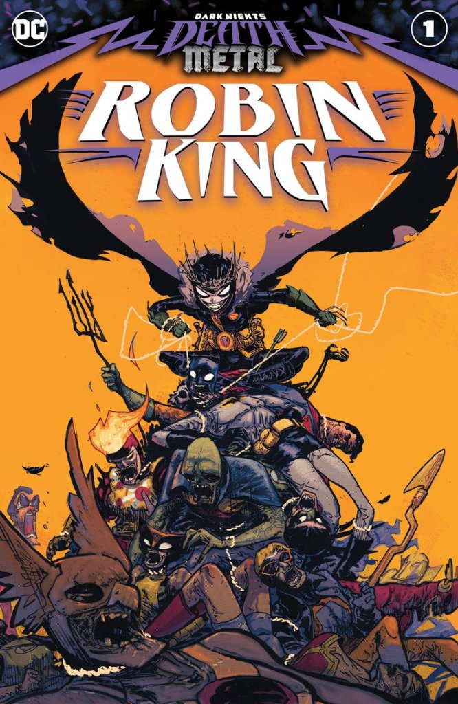 Dark Nights: Death Metal Robin King #1, copertina di Riley Rossmo