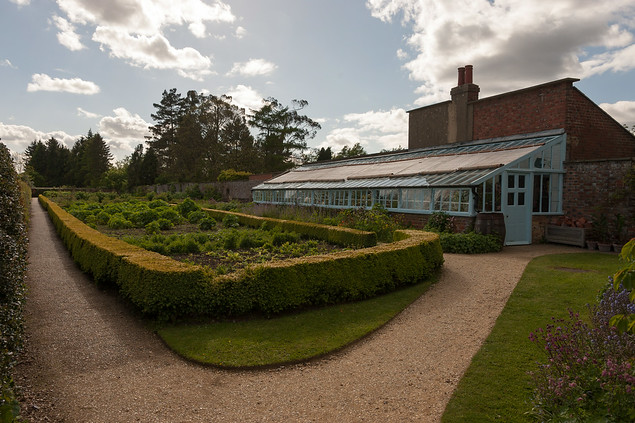 Darwin's kitchen garden and greenhouse