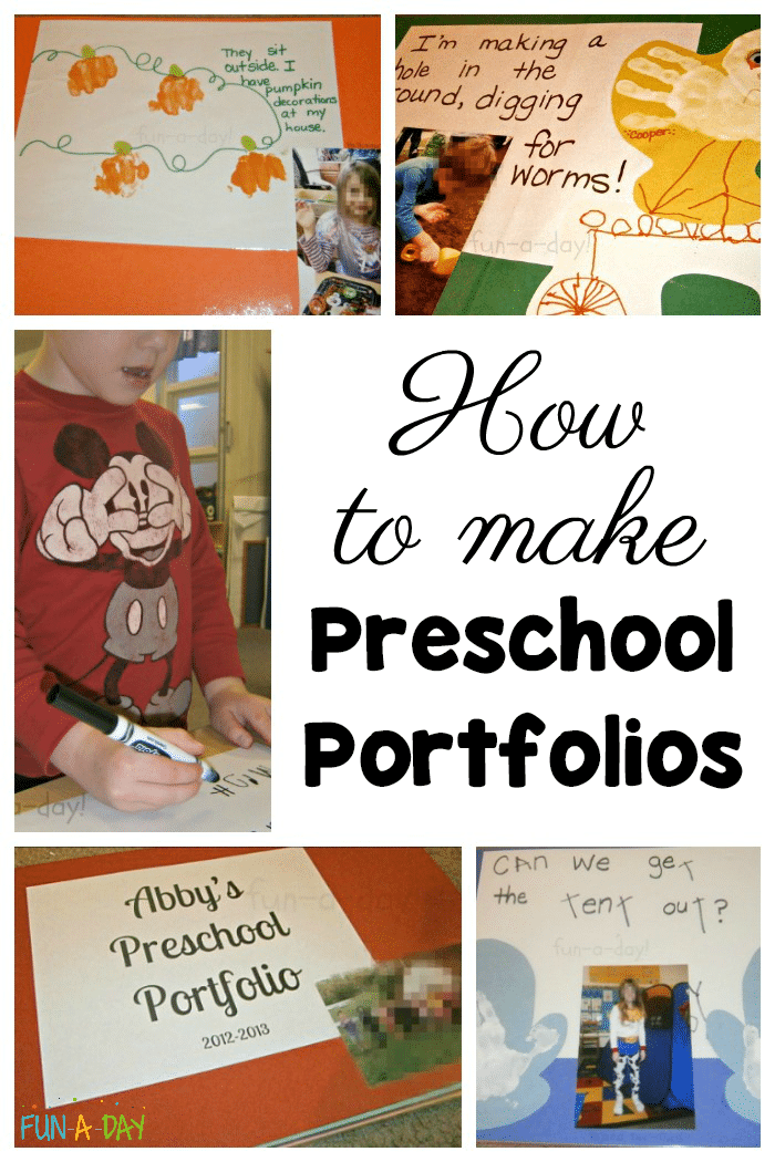 How To Make Preschool Portfolios With Your Students