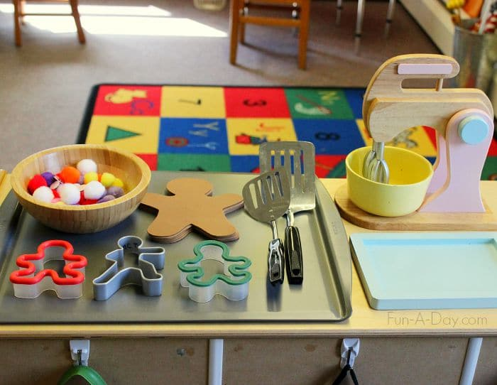 Dramatic Play Gingerbread Man Activity For Preschool
