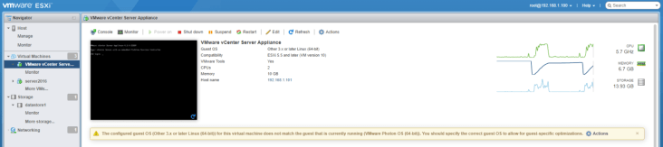 Установка VCenter Server Appliance 6.5 1