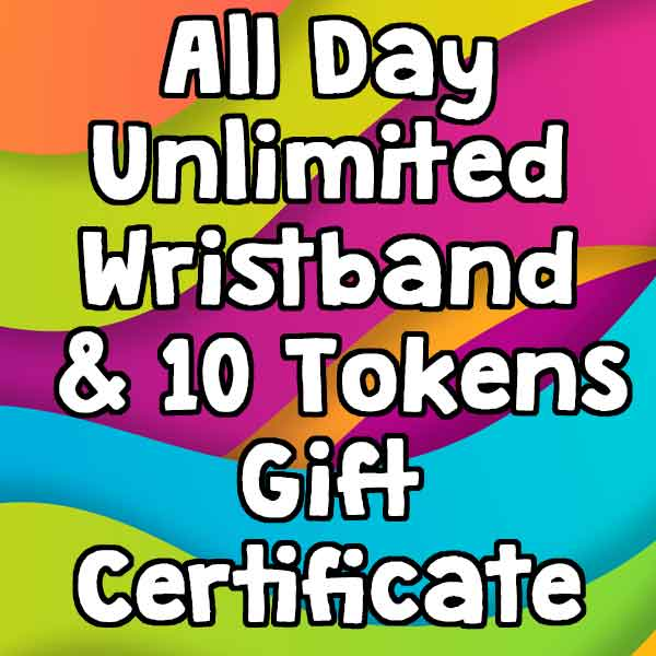 All Day Unlimited Wristband & 10 Video Game Tokens