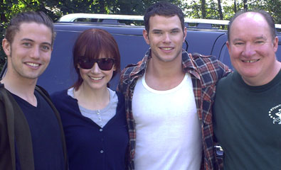 """Verne with the cast of """"Twilight"""""""