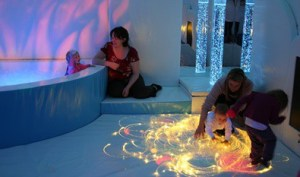 Sensory room at Boomerang, Bury