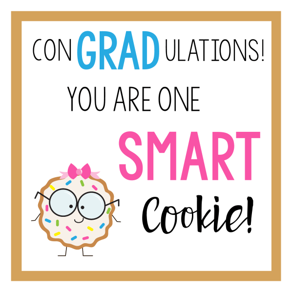 Smart Cookie Grad Gift Tag