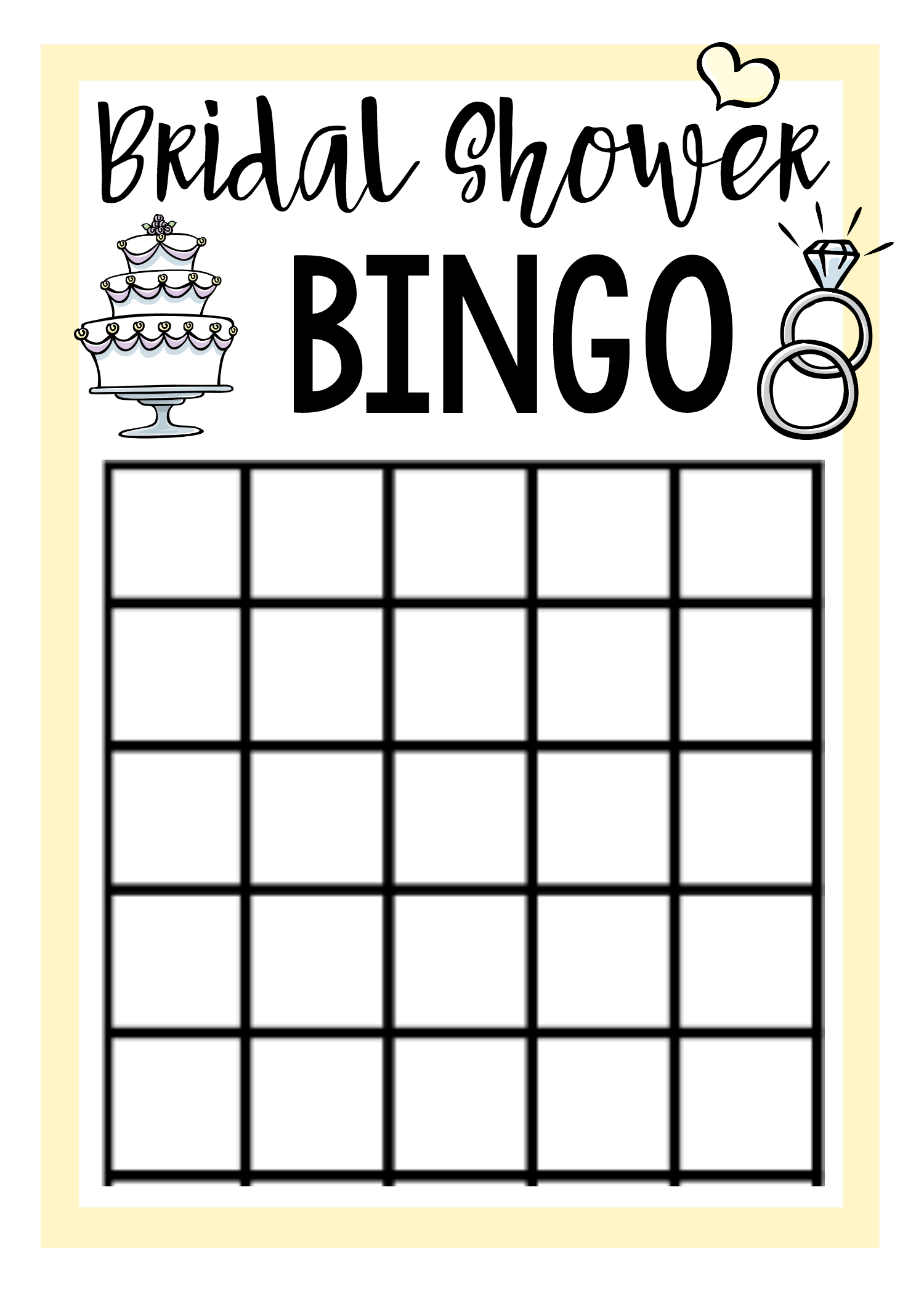 photo about Bridal Shower Bingo Free Printable titled Cost-free Printable Bridal Shower Game titles Enjoyment-Squared