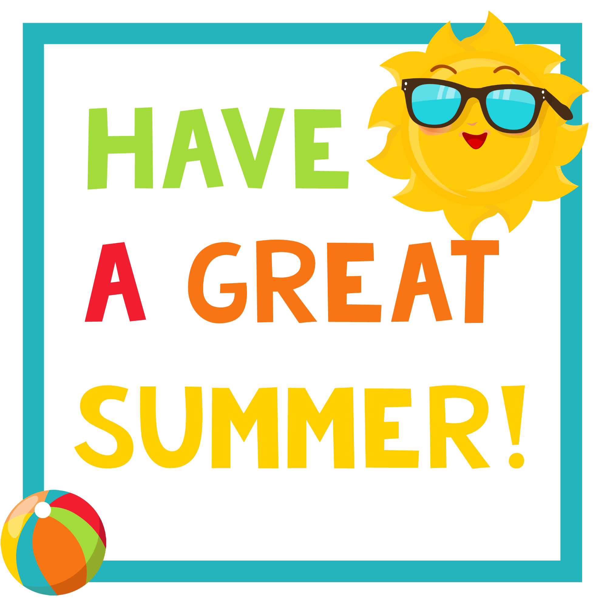 picture regarding Have a Kool Summer Printable identify Universities Out Bash-Summer season Occasion for Children Pleasurable-Squared