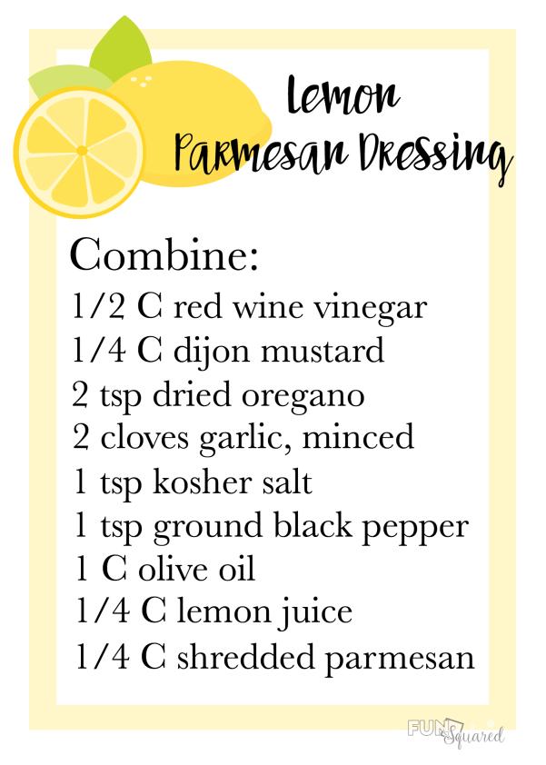 Lemon Parmesan Dressing Recipe Card