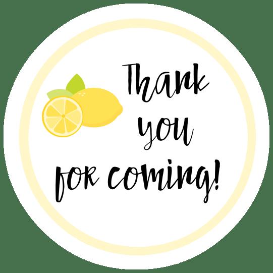 Lemon Favor Tags