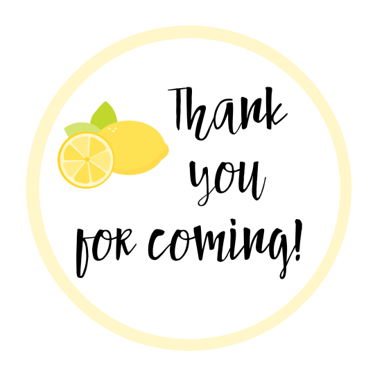 Lemon Favor Tags