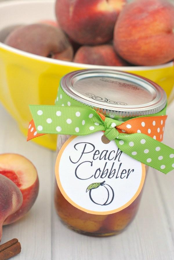 Easy Peach Cobbler Recipe in a Jar