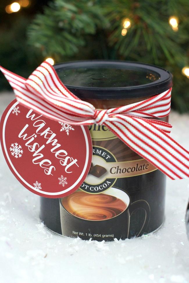 Easy Neighbor Hot Chocolate Gift Idea for Christmas