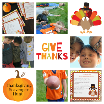Thanksgiving Scavenger Hunt