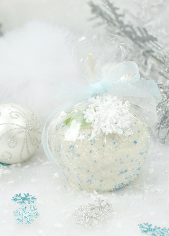 Snowball Caramel Apples – Fun-Squared