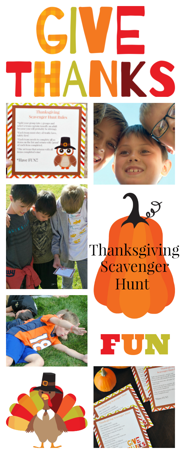 Thanksgiving Family Games to Play-Thanksgiving Scavenger Hunt