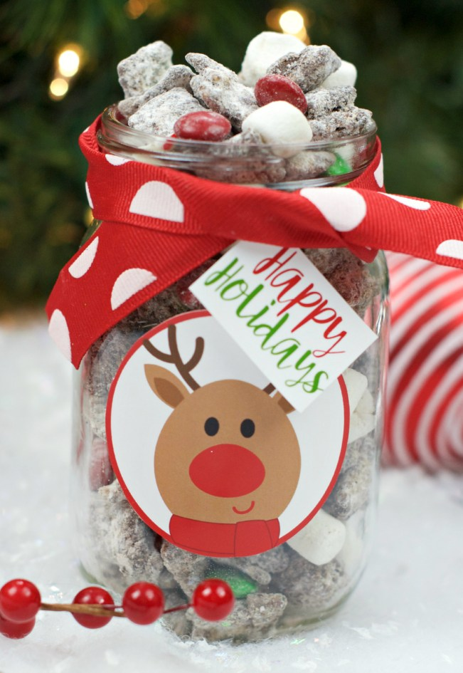 Reindeer Chow Recipe and Tag