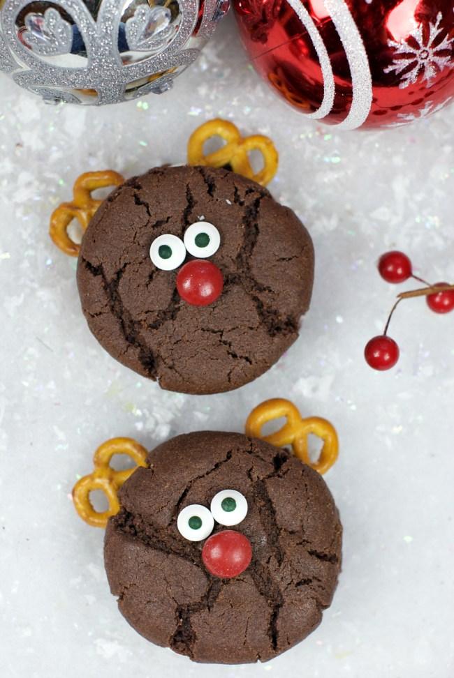 Cute Reindeer Cookies for Christmas