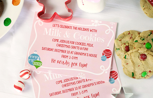 Cookies for Santa Party Invitations