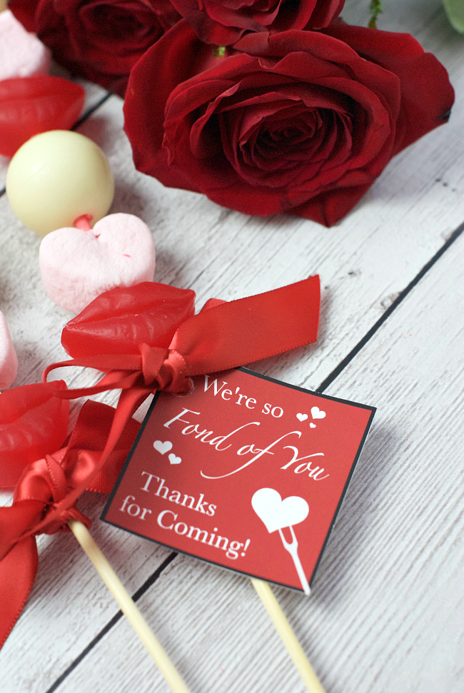 Fondue Valentine's Day Party Take Home Gift
