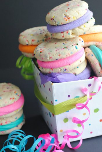 Funfetti Cookies from a Cake Mix