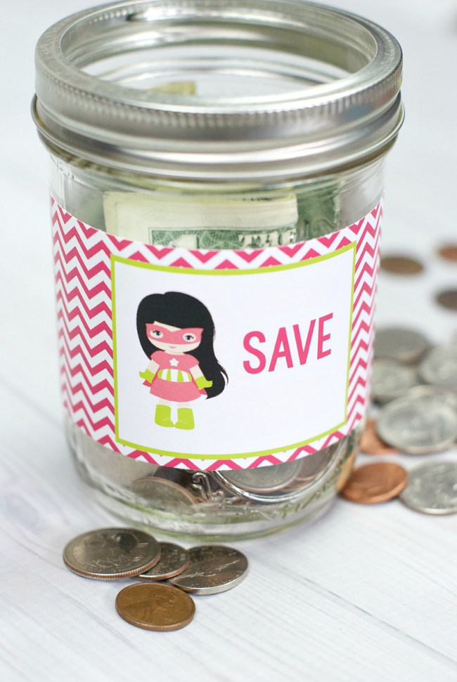 Easy Kids Piggy Bank in a Jar