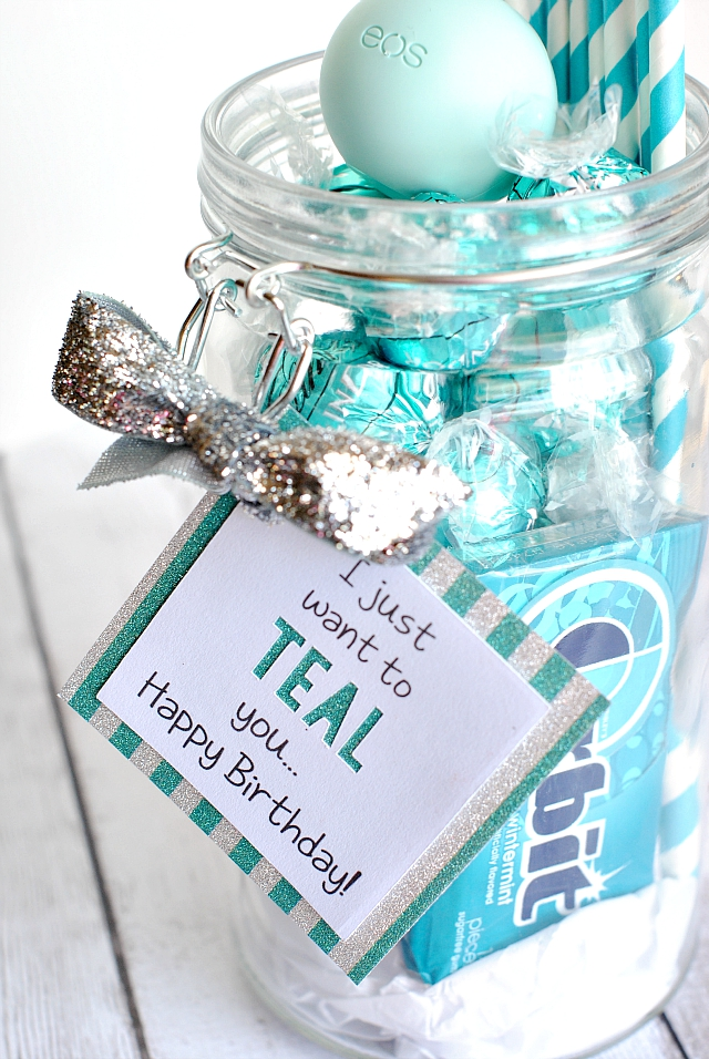 Teal Birthday Gift Idea