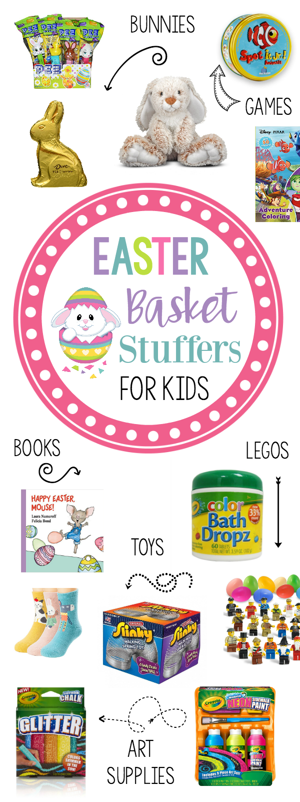 Cute and Fun Easter Basket Stuffers for Kids Under 10 Years Old