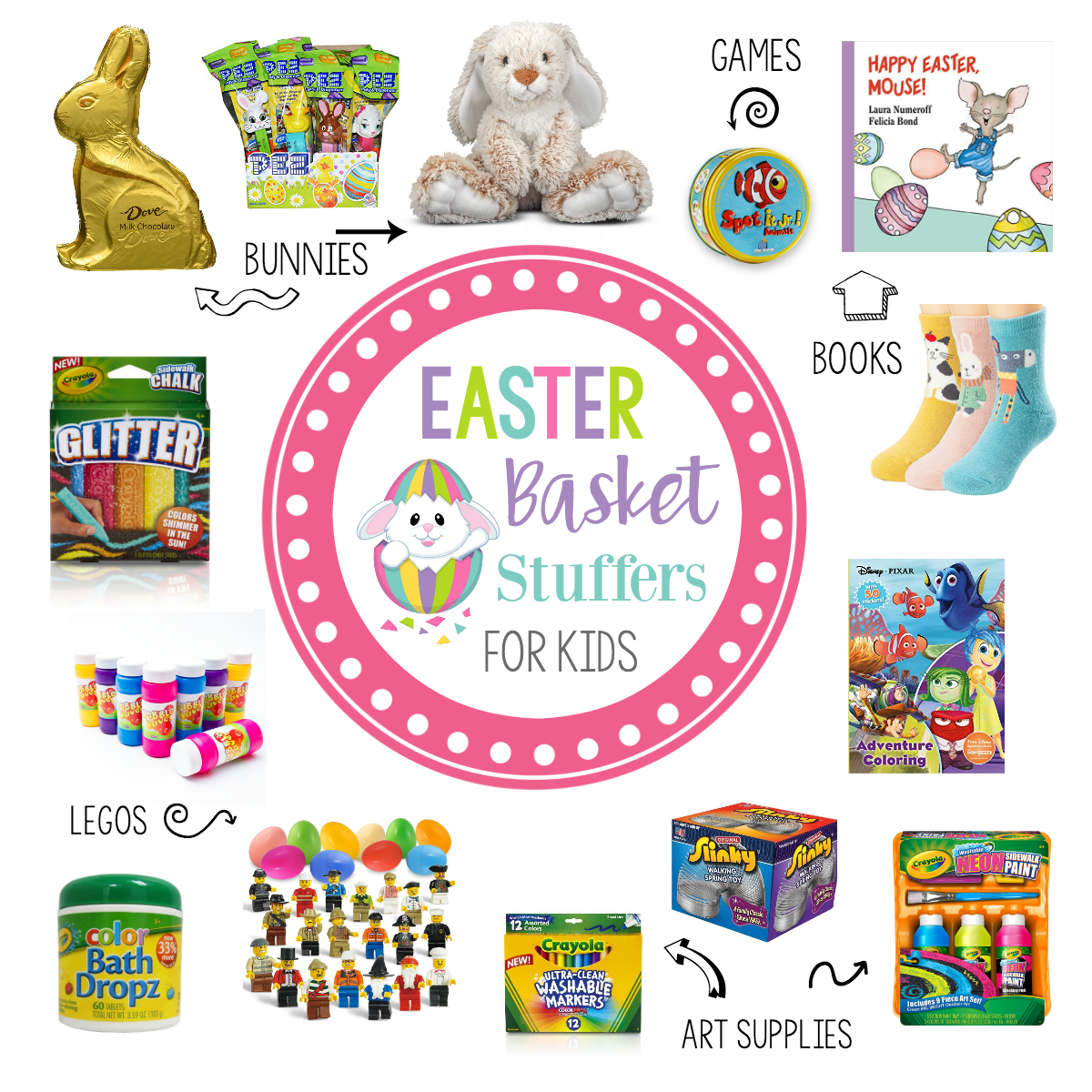 Easter Basket Stuffers for Young Kids