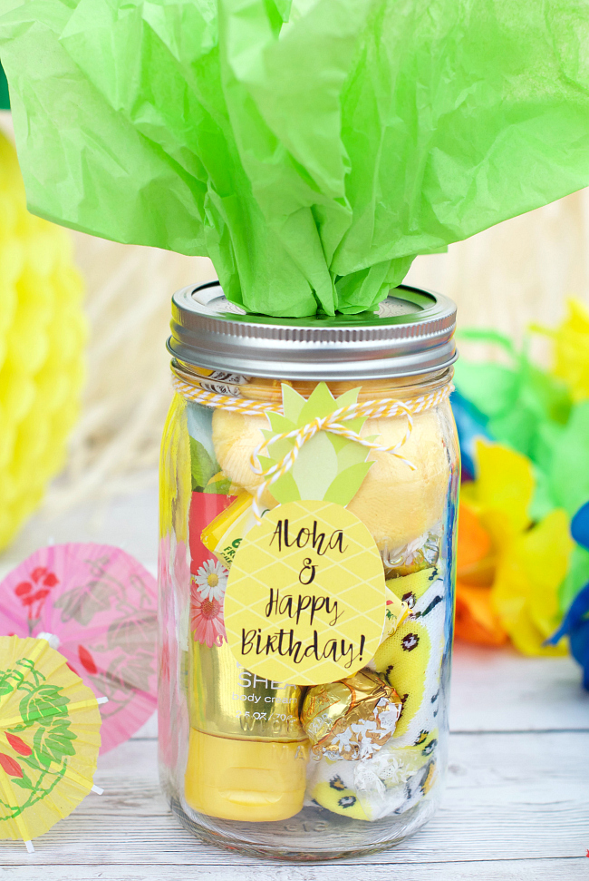 Pineapple Themed Birthday Gift Idea